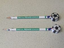 "Two (2) Rare THE F.A. PREMIER LEAGUE Pencils with push-on ""Football"" Erasers"