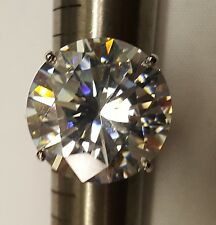 30 ct Round Ring from Dallas Russian CZ  Imitation Moissanite Simulant SS