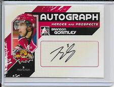 10-11 ITG Heroes and Prospects Brandon Gormley Auto