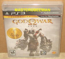 PS3 God of War Saga Collection Black Label New Sealed (Sony PlayStation 3, 2012)