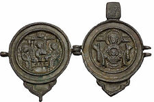 Jesus Christ Crucifixion Abraham Virgin Mary Byzantine Christian Amulet i44370