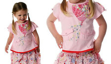 CAKEWALK ✿ NWT Girls Pink Balloon Cute Top & Skirt Set Size 3 - 4  / Euro 104