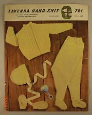 Raglan Pram Set - 791 - Lavenda Hand Knit - 4 Knit Patterns