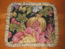 Throw pillow woven tapestry fabric fruits floral multicolor Custom new ONE ( #2)