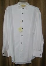 Stubbs Western Wear Cowboy Tuxedo Style Long Sleeve Shirt French Cuff Size M