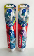 2 Colgate 360 Whole Mouth Clean Battery Powered Toothbrush-Soft