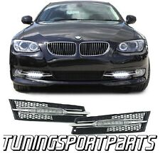 FRONT RUNNING LED DAYLIGHTS FOR BMW E92 COUPE 2010 FOG LIGHT GRILL NEW
