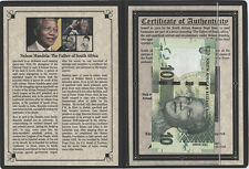 Nelson Mandela: The Father of South Africa Issued in 2012 by South Africa w/ COA