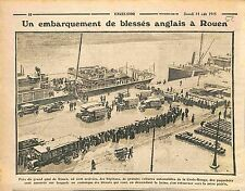 Dock Quai Port Rouen Ambulance Croix-Rouge Red Cross Tommies Royal Navy WWI 1915