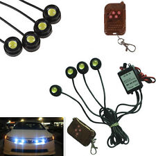 4in1 Car Emergency Strobe Grille DRL Light Eagle Eye LED Lamp Remote Control Kit