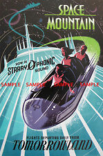 "Vintage Disneyworld Tomorrowland Space Mountain [ 8.5"" x 11"" ]   Poster"