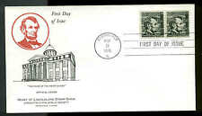 1303 LINCOLN PROMINENT AMERICAN FDC 1st HEART OF LINCOLN STAMP SHOW CACHET UA