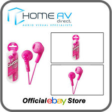 JVC HA-F160 Gumy In-Ear Headphones iPod/iPhone Compatible in Peach Pink