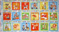 Circus Fabric - Flag Banner Block Monkey Kids #2019 Studio E Circus - PANEL