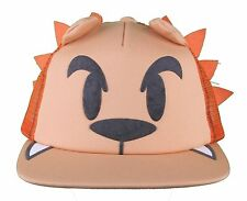Neff Men's Orange Lion Leo Snapback Baseball Hat Cap w Tail NWT