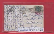 #104 - 1c PC to USA 1912 NO POSTAGE Dead Letter DLO Canada post card