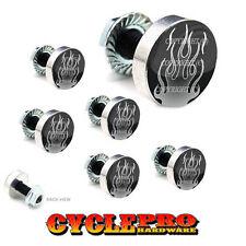 7 Pcs Billet Fairing Windshield Bolt Kit For Harley - GREY ROD FLAMES - 075