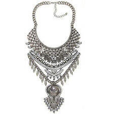 Big Bib Statement Bohemain Necklace Collar Trendy Coin Tassel Elegant Crystal