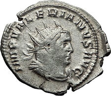 VALERIAN I 258AD Mediolanum Securitas Authentic Ancient Silver Roman Coin i58531
