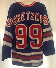 VTG Authentic Wayne Gretzky New York Rangers Blue Jersey By Gerry Cosby / CCM 44