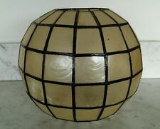 Capiz Shell Sphere Shade Lampshade Ceiling Swag Lamp Hanging Light Round HWR MCM