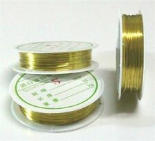 1Roll Gold String Beading Wire Cord String Thread DIY Necklace Bracelet 0.4mm B