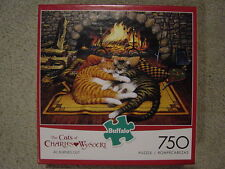 CHARLES WYSOCKI 750 piece  ALL BURNED OUT cat fireplace jigsaw puzzle NEW 2014