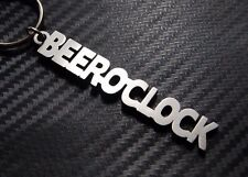 BEER OCLOCK Beer Alcohol Pub Drink Relax Friday Keyring Keychain Key Fob Gift