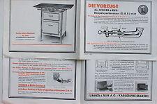 18774 Reklame Prospekt JUNKER RUH Doppelspar Brenner 1929 Gasherd