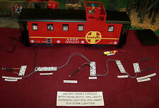LGB STYLE G SCALE STEEL CABOOSE LIGHTING KIT + HEAD + TAIL LAMPS + INTERRIORS