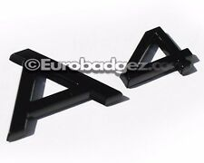 1 - NEW AUDI A4 Gloss Black Rear Badge Emblem for quattro 1.8 (A4 GLOSS BLACK)