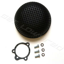 Black Round Mesh Air Cleaner for Bendix-Keihin Carb Harley Sportster Dyna