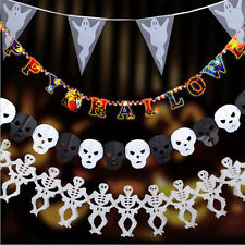 Halloween Props Garland Happy Halloween Hanging Ghost Paper Party Decoration