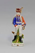 42025 Porzellan Figur französischer Soldat  bunt Wagner&Apel