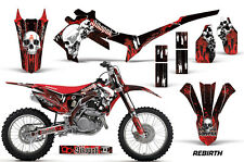 SIKSPAK Honda CRF 450R Graphics Number Plate Kit MX Bike Decal 13-14 REBIRTH BLK