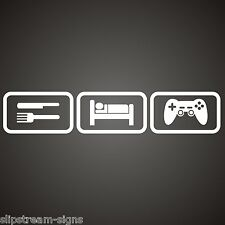 Eat Sleep Game Vinyl Sticker  Car Graphics Laptop Bedroom, Console Gamertag