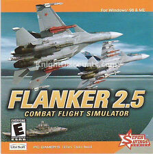 FLANKER 2.5 Combat Flight Simulator PC Game NEW SEALED!
