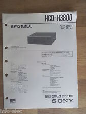 Schema SONY - Service Manual Tuner Compact Disc Player HCD-H3800 HCDH3800