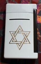 ST DUPONT MINIJET TORCH FLAME OPTIC WHITE LIGHTER LIMITED EDITION STAR OF DAVID