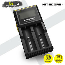 Nitecore D2 V2 LCD Intelligent Li-ion Ni-MH Battery Charger AA AAA 18650 26650