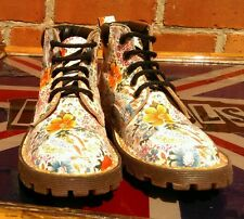Rare dr martens meadow fleurs enfants uk 13 eu 31.5 made in england-sienna miller