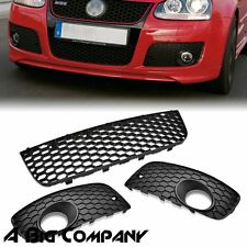 FOR 2006-2009 VW MK5 JETTA GTI GLI FRONT BUMPER CENTER GRILLE+FOG LIGHT COVER
