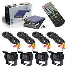 H.264 Mini 4 Ch Real-time Car DVR SD Card Mobile Digital Video Recorder System