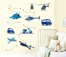 Removable Wall Sticker-Airplanes,Cars,Helicopters, Bus.