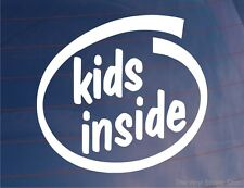 KIDS INSIDE Funny Novelty Car/Van/Bumper/Window/Door Vinyl Sticker/Decal