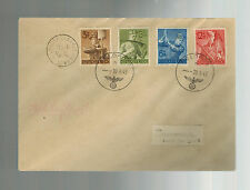 1943 Occupied Jersey Channel Island Feldpost Cover to Germany Labor Korps Stamps