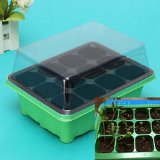 12 Cells Hole Plant Seeds Grow Box Tray Insert Propagation Seeding Case