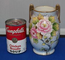 """Vintage Noritake Floral Vase - 6 1/4  High X 4"""" Wide - Very Nice"""