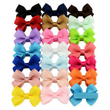 20 PCS Baby Big Hair Bows Boutique Girls Alligator Clip Grosgrain Ribbon Cute