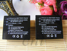TWO Batteries for Panasonic CGA-S005 CGA-S005A CGA-S005A/1B CGA-S005E DMW-BCC12